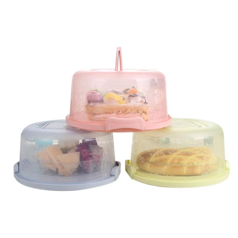 Wedding Preservation Boxes: Portable Round Cake Box Dessert Container Cover Case Food