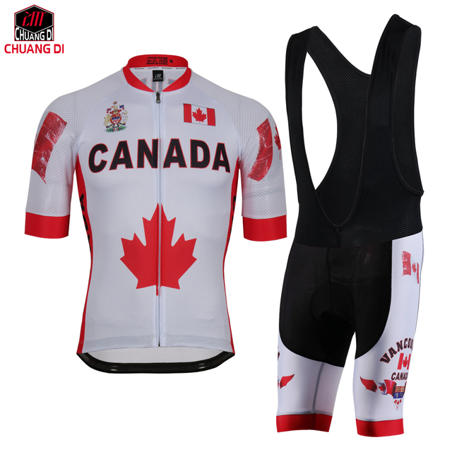 Canada Cycling jersey polyester quick-dry pro bike jersey MTB Ropa Ciclismo  team sky Bicycling maillot shirts National flag 2733a5a11