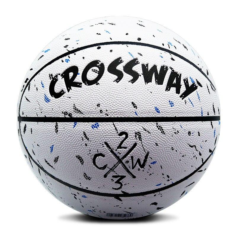 все цены на CROSSWAY new Basketball Size 7 Adult Male Wearable Leather Training Basquet Ball Ballon indoor outdoor match Street Student 1634 онлайн