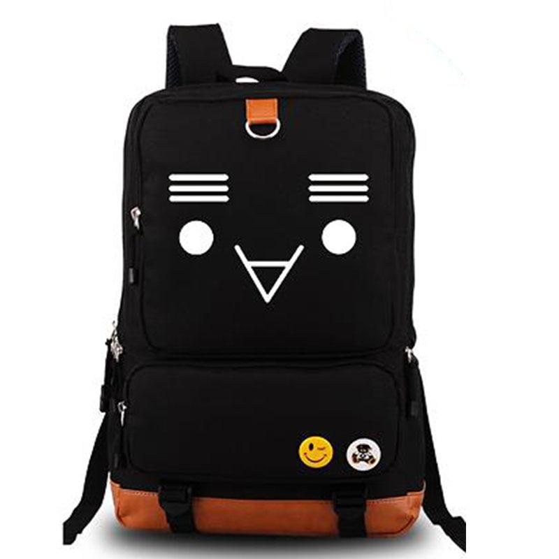 Axis Powers Hetalia Canvas Backpacks Emoticon Smileys Print Cute Kawaii Shoulders Bag Book Laptop Traveling Backpack Rucksack