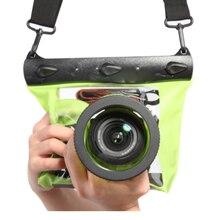 Conjunto de bolsa para câmera de mergulho, bolsa seca à prova d água para canon nikon dslr slr