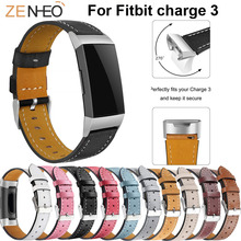 Luxury Colorful Leather Replacement Wristband For Fitbit Charge 3 Bracelet Straps Smart watch Wrist Strap