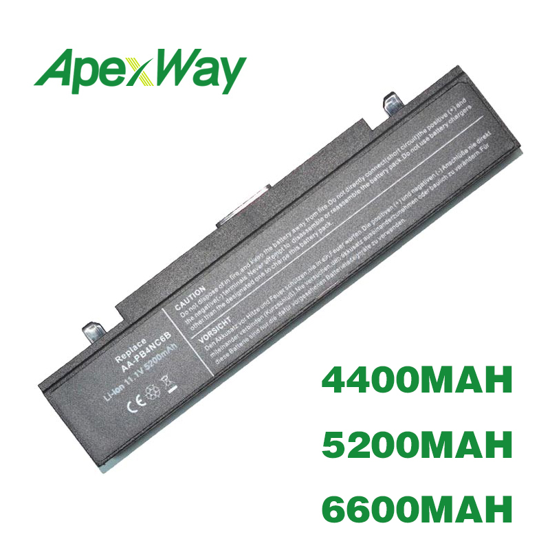 ApexWay 6 Cell Battery For Samsung R60 R45 R460 AA-PB2NC3B AA-PB2NC6B AA-PB4NC6B AA-PB4NC6B/E AA-PB6NC6B AA-PL2NC9B AA-PL2NC9B/E