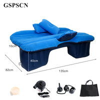 GSPSCN Top Selling Car Back Seat Cover Car Air Mattress Travel Bed Inflatable Mattress Air Bed