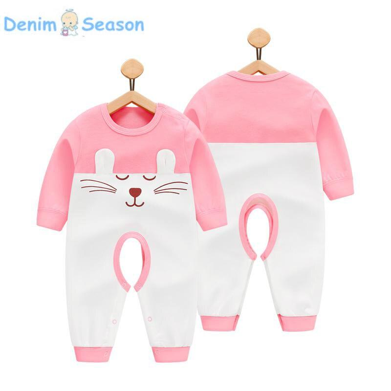 Denim Season 2018 Summer Newborn Baby Clothes Set Cotton Baby Girl Rompers Baby Onesie Romper Newborn Clothing Baby Jumpsuit
