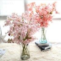 Artificial Flower Sakura Wedding Bouquet Bridal Bouquets Fake Flower Home Artificial Flower Sakura