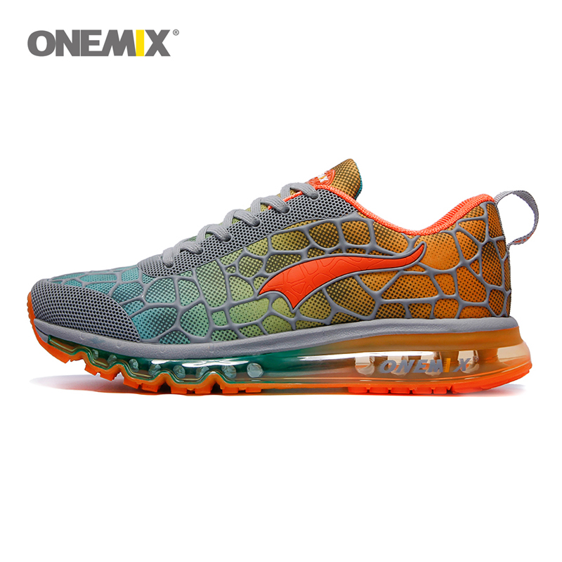 ONEMIX running shoes men's air shoes breathable outdoor sports light buffer walking shoes professional sports shoes size 39-47