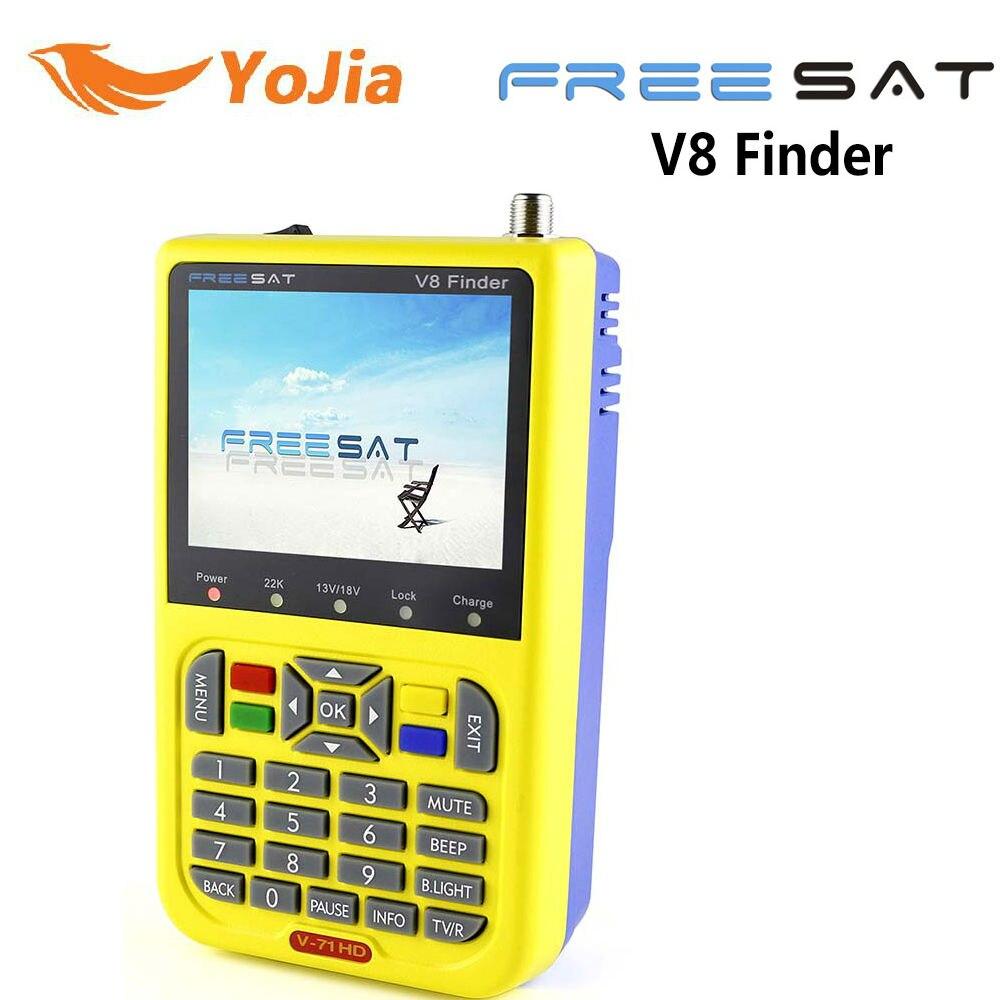 Yojia Genuine HD DVB-S2 Freesat V8 Finder Satellite Finder Ad Alta Definizione Satellite Finder MPEG-V8 Misuratore Satellitare Finder