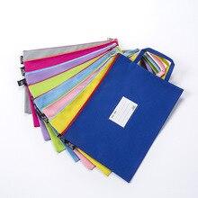 Explosion A4 Portable Student Subject Classification Oxford Bracelet Waterproof Document Bag Colour Information Receiving Bag