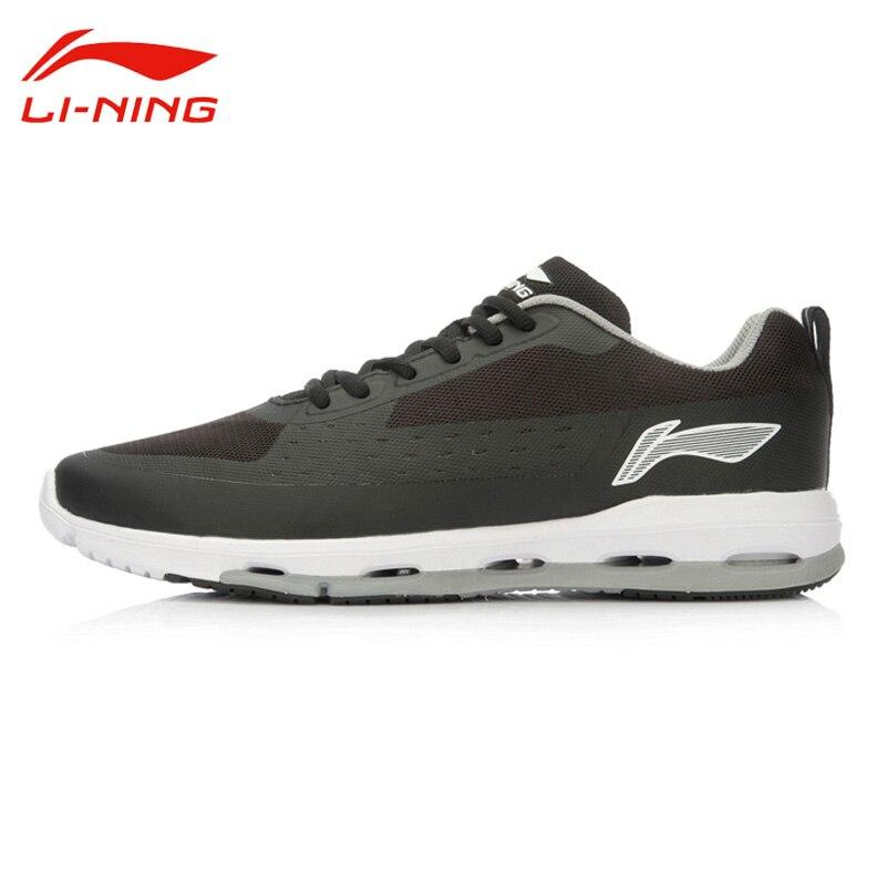 ФОТО Li-Ning Men's Outdoor Anti-Sli Running Shoes Li Ning Breathable PU+Fabric  Lace-Up Mesh Sport Sneakers ACGL059