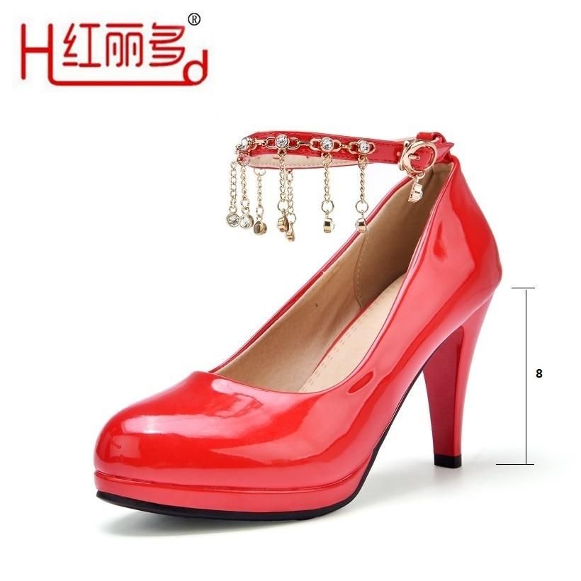 New women thin high mid heels pumps wedding shoes ladies black round high heel bride waterproof Beaded high heels bridal shoes туфли на высоком каблуке mid high heels shoes 2015 heles sapato feminino ladies mid high pumps