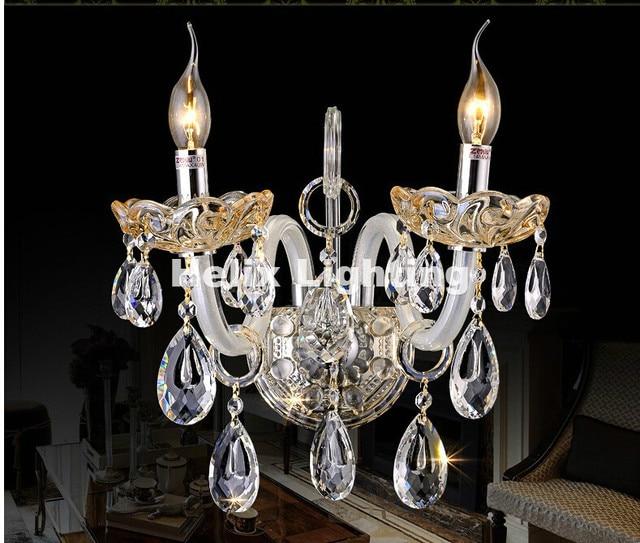 aliexpress com buy modern clear k9 crystal wall lamp clear glass