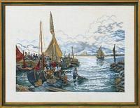Handarbeiten, diy kreuzstich, sets für stickerei kits, 11ct 14ct &, die fischerboot der bay