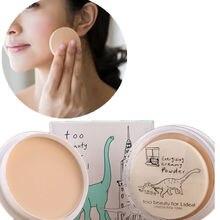 Las mujeres de Color Natural Prensado Suave Seco de Control de Aceite Corrector Polvos Sueltos Maquillaje Cuidado de La Piel Cosméticos