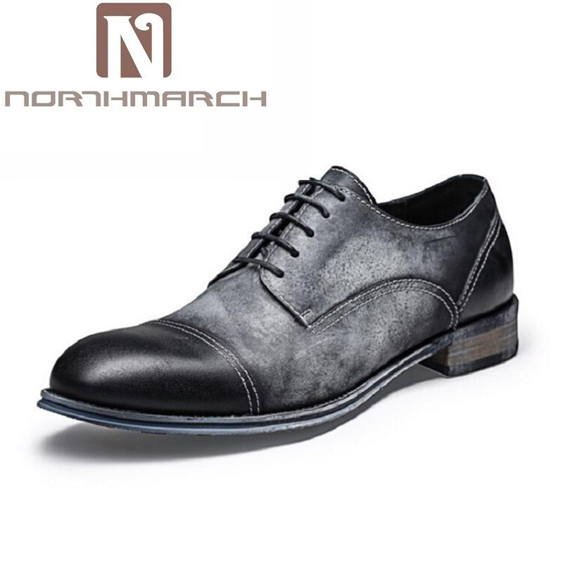 Masculina Hombre marrón La Negro Calidad Marca Northmarch Retro Cómodo Genuino Formales De Italiana Para Cuero Alta Boda Zapatos 64CtWwqC
