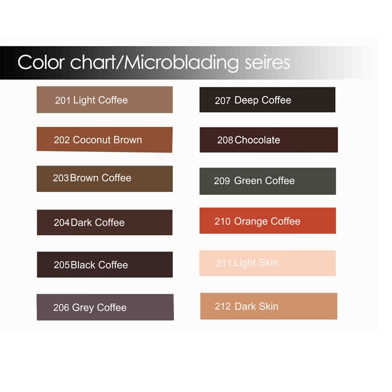 Купить с кэшбэком Professional microblading pigments permanent  makeup ink  Eyebrow Micro Tattoo Ink microblade pigment supply