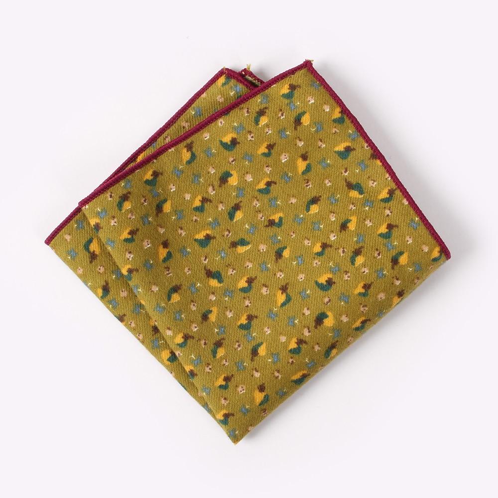 New High Quality Men's 100% Cotton Flower Handkerchief For Man Wedding Print Pocket Square Chest Towel SuitS Hankies 23*23cm