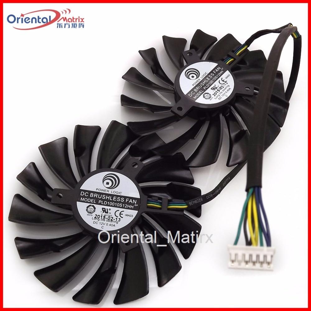 Livraison gratuite 2 pcs/lot PLD10010S12HH 12V 0.40A 95mm pour MSI GTX970 GTX980 GTX980Ti carte graphique refroidisseur ventilateur de refroidissement