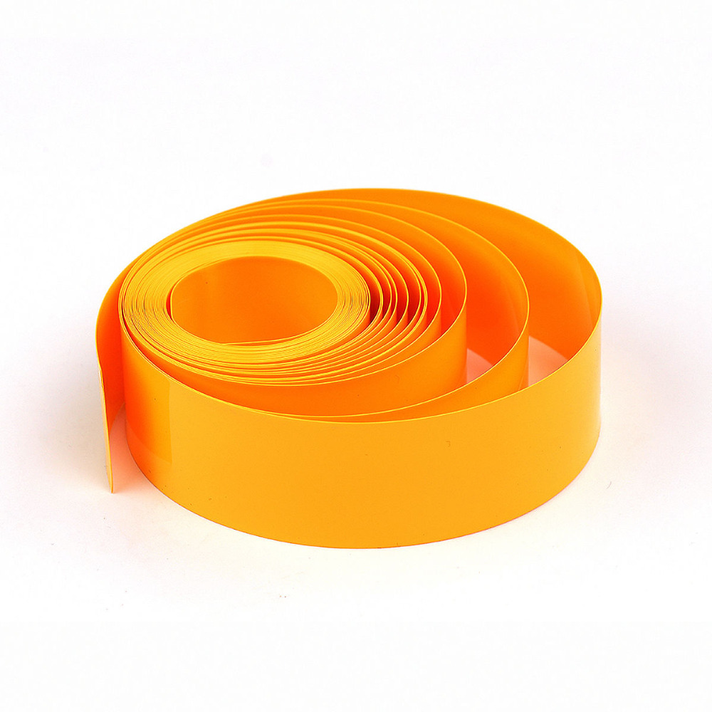 Yellow (18650 18500 Battery) 29.5MM  Flat 18.5MM in Round 5M PVC Heat Shrink Tubing Tube Wrap Kits