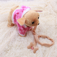 Toys Dogs Electric Pets Dog Robot Pets Walking Singing With Musical Pink White Brown Toys For