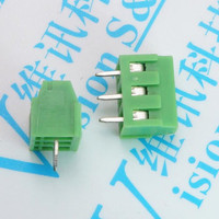 200pcs Lot PCB Screw Terminal Block Connector KF128 Pitch 5 0MM 0 2inch Green 5mm KF128