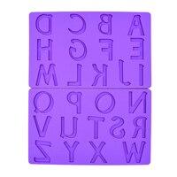 26 Hoofdstad Alfabet Letter Siliconen Mold Fondant Kauwgom Plakken Taart Decoreren Gereedschappen Voor Cupcake Candy Chocolade Klei Arts & Crafts