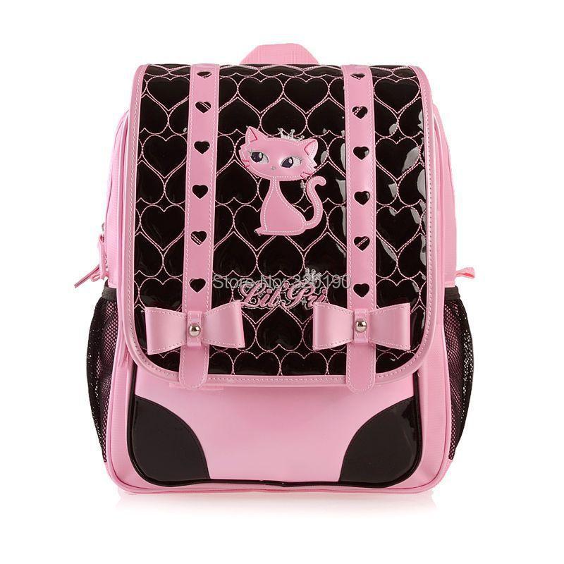 ,paris cat cute girls children school bags,fashion backpacks,school book bag,kids backpack - Shining bags store