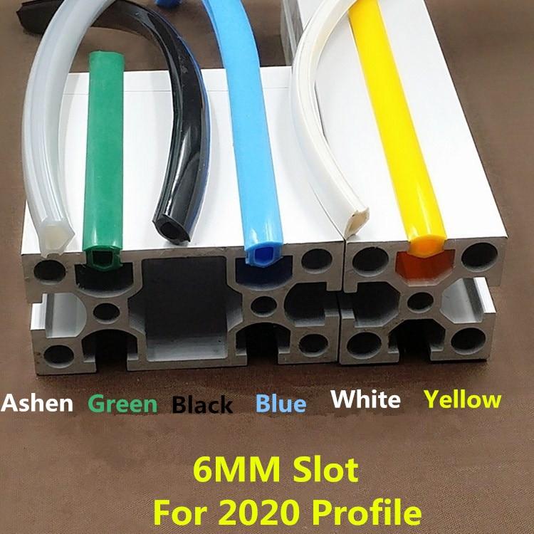 1 Meter  20 Series Profile Slot Cover , Dustproof Edge Banding  For 6mm Width Slot UPdaing Anet ,Kossel /CR10 3D Printer