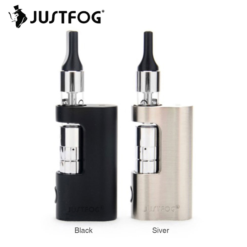 Originale JUSTFOG C14 kit 900 mAh con 1.8 ml C14 clearomizer bobina 1.6ohm & built-in 900 mAh batteria e 5 safty circuiti ecig C14 kit