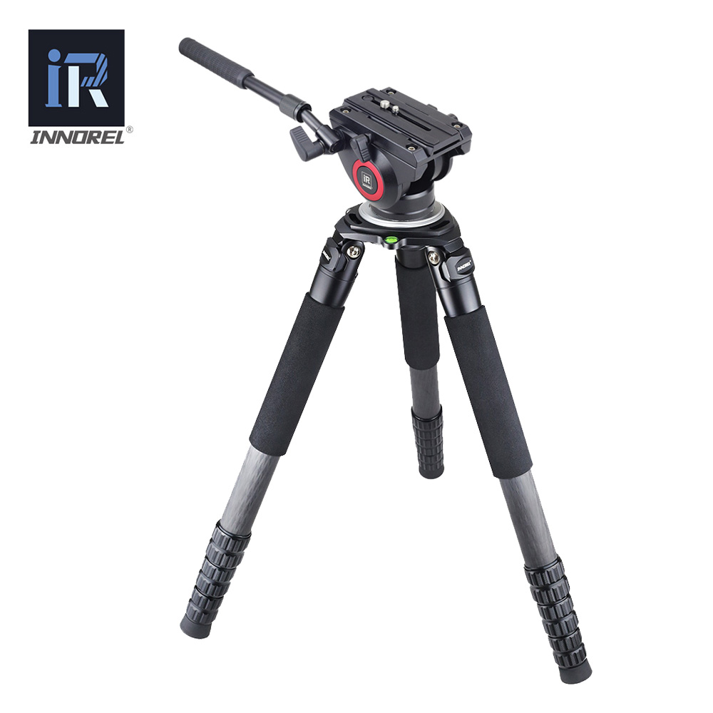 RT90C Carbon Fiber fluid head video Tripod professional Birdwatching 30kg bear 4 section DSLR tripod VS manfrotto for ARRI BMCC new tpc 120h ecme touch screen