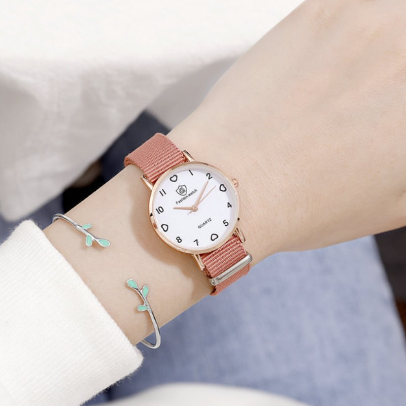 Children Kids Watch Military Fabric Nylon Band Student Boy Girls Watches Quartz Analog Army Men Women Quartz Wrist Watches