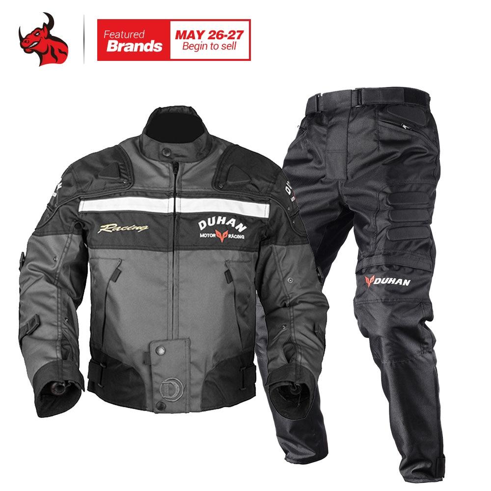 Духан мужчин Traje motociclismo мотоциклетная куртка костюм мотокросс гонки по бездорожью куртка + верхом брюки комплект одежды Блузон мото