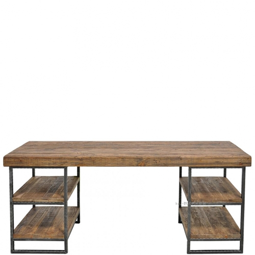 Loft Style Do The Old Wrought Iron Coffee Table Wood Desk Nostalgia