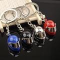 Mini Motorcycle Helmet Keychain Keyring Metal Key chain Stainless Steel Chain Ring Holer chaveiro Pendant gadgets for men YSK052