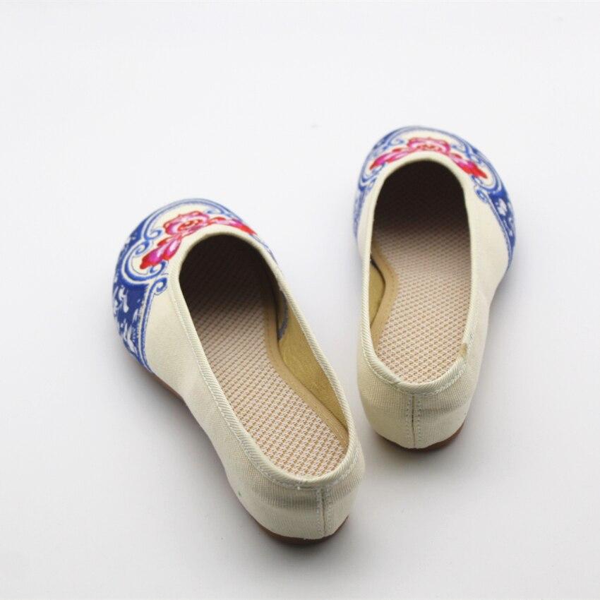 Chanvre Lady Chaussures Mocassins E280 Haute Slip Rétro Femmes Dame b Qualité Casual Sur De Zapatos Plats Mode A Broderie Plates Danse xPwqvY