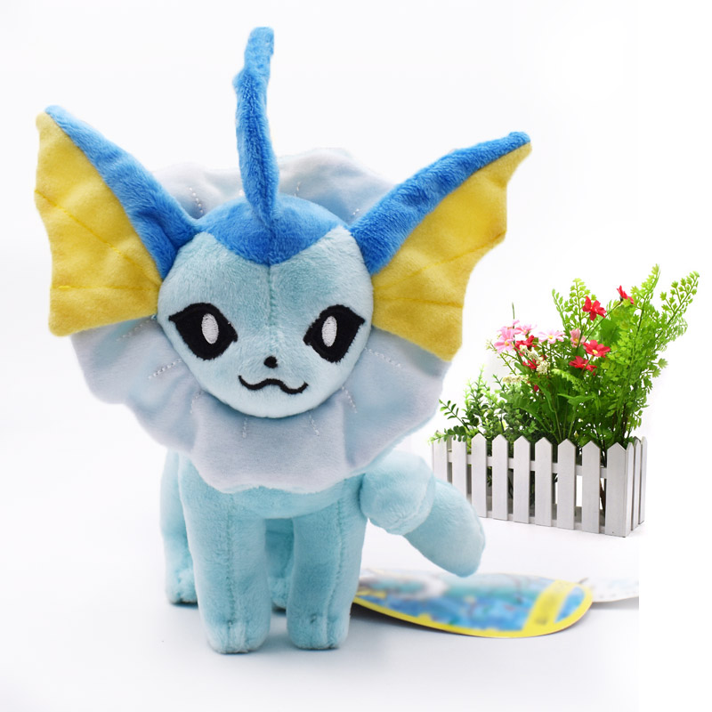 <font><b>20</b></font> <font><b>cm</b></font> Anime <font><b>Peluche</b></font> Doll Vaporeon Animal Stuffed Plush Quality Cartoon Toy Christmas Gift For Children image