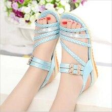 Women Sandals 2016 Ladies Summer Slippers Shoes Women Low Heels Sandals Large Size 35-39 Fashion Sequin Shoes