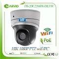 Hikvision full hd 1080 p 2mp ip sem fio wi-fi câmera de rede ptz ds-2dc2204iw-de3/w com áudio & interface de alarme wi se camara poe