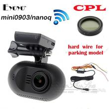 Free shipping!EYOYO Mini 0903/nanoq 1080p HD Wifi Car Dash Cam Capacitor DVR+CPL + Hard Wire