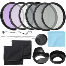 Andoer Professional 58/52mmCamera UV CPL FLD Lens Filters Kit and Altura Photo ND Neutral Density Filter Set Photo Accessories(China)