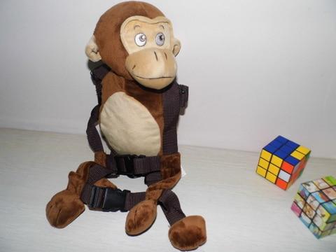 Приятель для того, чтобы держать 2-в-1 Детские накладной Рюкзак Детские поводья для От 1 до 3 лет вокруг - Цвет: Chimp