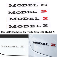 1pc Styling ABS Car Emblem Model S X Decoration Badge Tail Trunk Logo Sticker Refit Accessories for Tesla