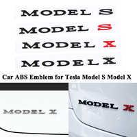 1pc Styling ABS Car Emblem Model S Model X Decoration Badge Tail Trunk Emblem Logo Sticker Refit Accessories for Tesla Model S X