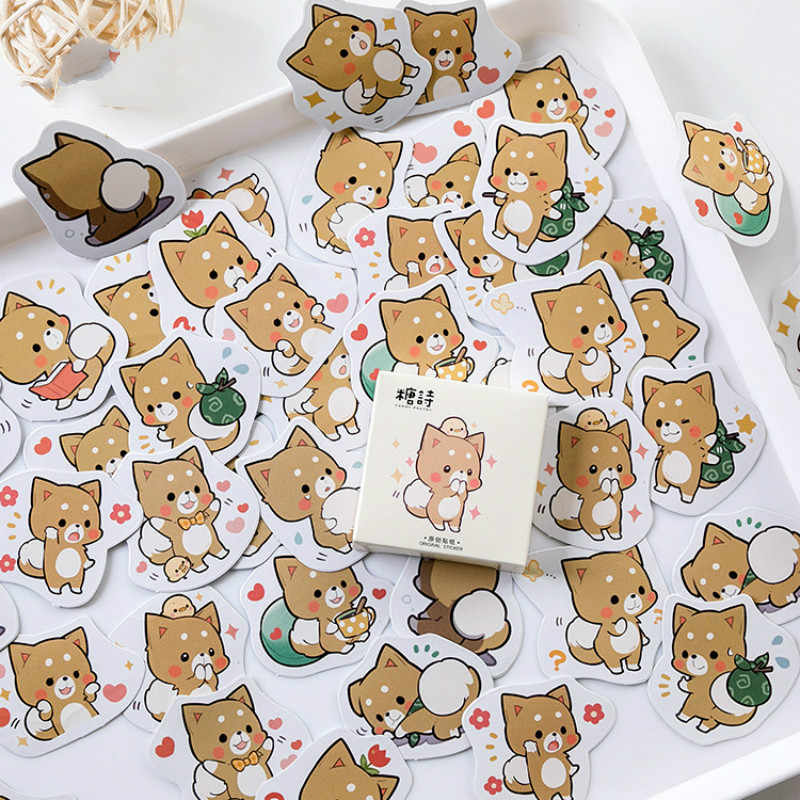 40 PCS Stiker Anak Anjing Campuran Mainan Mobil Styling Sepeda Motor Ponsel Laptop Bagasi Perjalanan Keren Lucu Stiker