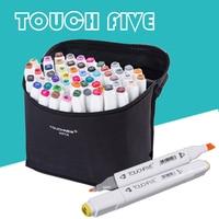 TouchFive Marker 30 40 60 80 ColorAlcoholic Oily Based Ink Art Marker Set Best For Artist