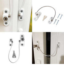 4 Pcs Baby Safety Locks Stainless Child Window Restrictor Infant Security Lock Safety Kids Prevent Children Falling Window Lock
