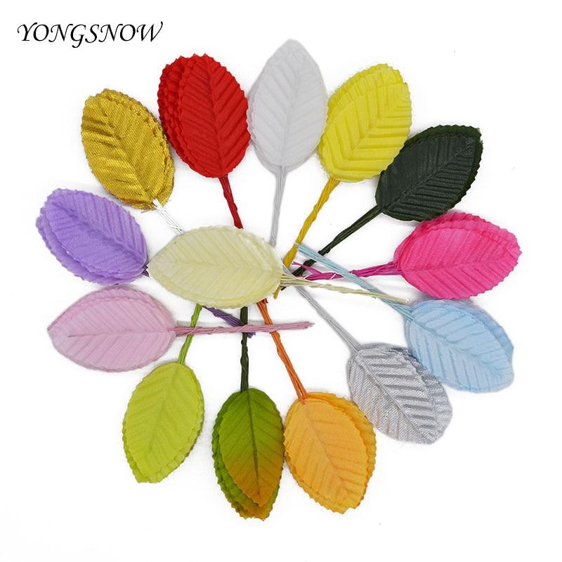40 Stücke 5 Cm Silk Blattförmige Blätter Künstliche Blume Für  Hochzeitsdekoration Diy Kranz Geschenk Scrapbooking Handwerk