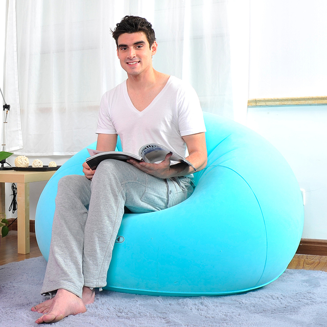 Lazy creative leisure sofa sofa couch ball flocking fashion inflatable sofa