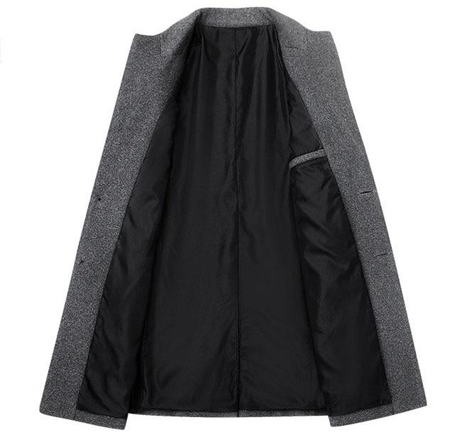 Winter Wool Coat Slim Collar 4
