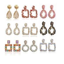 ECODAY Fashion Stone Earings ZA 2019 Big Statement Earrings Gold Color Drop Earrings for Women Oorbellen Pendientes Brincos недорого